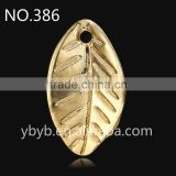metal 3d leaf pendant Applique garment accessories in trimming -386