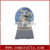 unique cheap kids resin snow ball human snow globe