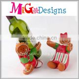 New Resin Bottle Holder With Gingerbread Man Shape