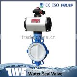 China Suppliers Cast Iron 10 Inch Ptfe Seat Wafer Type Butterfly Valve With Pneumatic Actuator