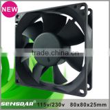 115Volt 230Volt 220V low power consumption fan 8025 80mm ac cooling roof ventilation fan