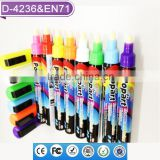 Amazon Liquid Chalk Ink 6mm Chisel Bullet Nib Wet Dry Erasable 8-pack Highlighter Marker Pen