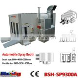 good quality china supplier used paint booth/car paint mixing machine/auto painting oven