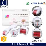 3 in 1 Kit Derma Rollers Titanium Micro Needle Roller 180 600 1200 Needles Skin DermaRoller for Body and Face