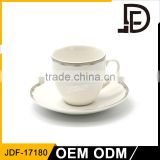 Wholesale ceramic coffee mug cup / cofee/tea drinking cups set / cafe cup and saucer set