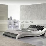 Fahsion S Shaped PU Leather Home Furniture Soft Bed