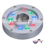 Best seller 9*3W RGB led fountain ring light submersible, 12v fountain light