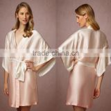 Cheap Fancy Kimono Bathrobe Elegant Bridesmaid Gift Cream High Quality Nightgown Weddings Party Night Wear Robes