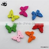 18x24mm butterfly shaped wood buttons colorful buttons for clothing craft diy decoration