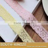 Pretty Yellow / Pink Floral elastic lace ribbon DIY garter wedding bridal handband lace ribbon