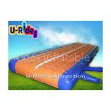 Air Sewing Orange Gymnastics Air Track , Inflatable Air Tumble Track For Cheerleading