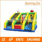 Outdoor toys cheap inflatable bungee run, giant inflatable sports games