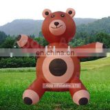 AOQI products 0.55mm PVC attractive bear inflatable moving cartoon AQ5645
