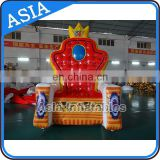 inflatable king/queen chair,inflatable throne chair, inflatable birthday chair for party