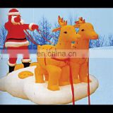 inflatable santa with deer, inflatable christmas santa claus