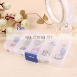 10 grid removeable Clear Plastic DIY Divider Container box Electronic Components Storage box