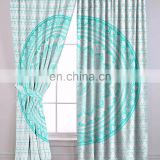 Indian Latest Green Ombre Mandala Home Decorative Curtain Set Window Balcony Wall Hanging Door Curtains