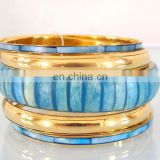 Wholesale Fashion Bangle set-Indian Costume cuff bracelets-Sky blue party wear cuff bracelet 2016