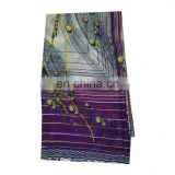 Women's Dress Purple Designer Peacock Print Crepe Silk Party wear Shredded Saree