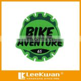 Bike Aventure Club Pattern Embroidery Garments Label Applique