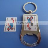 High quality existing mold zinc alloy custom printed logo bottle opener