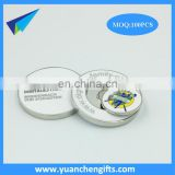 wholesale 2side golf magnetic soft enamel ball marker 40mm