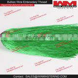French Metallic Gimp Green Bullion Wire For Embroidery Work