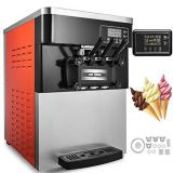 Three flavor soft ice cream machine soft serve ice cream machine