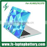 "Sea blue crystal case cover for Macbook 11"" rubber laptop case for Macbook 12"" protective case cover"