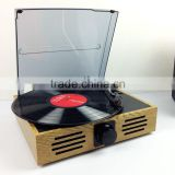 Classic Vintage Design!!! Simple Turntable& Vinyl Record LP