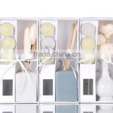 Scented Clay Rattan Stick Flower Reed Diffuser With 3 pcs Candles