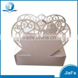 Heart Shape Of Laser Cut Wedding Favor Boxes