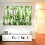 Hot Hand Painted Bamboo Landscape Wall Art Pictures Oil Painting Canvas Paintings