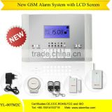 2012 best selling!GSM wireless burglar alarm equipment using for home,shop,warehouse and etc