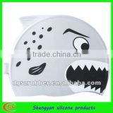 wholesale rubber silicone swimming bathing cap for girls shower cap