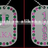 AKA Greek Double Sided Alpha Kappaa Alpha Sorority custom dog Tags logo Jewelry necklace