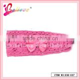 Chinese supplier factory wholesale crochet knitted headwear hairband with ribbon bow (036-037)