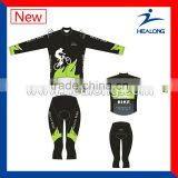 Quick Dry Long Sleeve Custom Sublimated Cycling Uniform