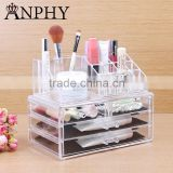 C39 ANPHY Large 4 drawers PS crystal Makeup Box washroom storage rack for jewelrys cosmetics acessories                                                                         Quality Choice