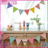 12pcs/set customized size paper triangular Birthday Party Wedding Home Decoration disposable paper pennants