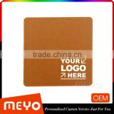 China rubber square PVC leather mouse mat with Cusotmized logo