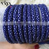 Royal Blue Sting Ray Material Leather High end Quality Stingray Leather Cord for Bracelet Craft