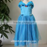 wholesle high quality cinderella dress cosplay costume party dress for girls with butterfly