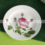 fashionable design love shape hot sale good looking Decal ceramic bone china dinnerware plates