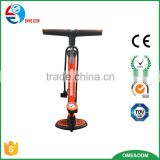 high pressure iron bicycle floor pump with gauge / bicycle floor pump with gauge