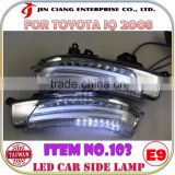 Car accessories Mirror Cover LED SIDE LAMP Signal Light FOR Toyota IQ