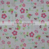 bamboo fiber flannel printing waterproof tpu fabric /baby diapers mat fabric