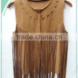 Fashionable Fringed Faux Suede Top!Beautiful Young Girl Clothes                                                                         Quality Choice