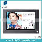 7 inch lcd flintstone pre install SD cards play from CF/SD card mounted advertising display