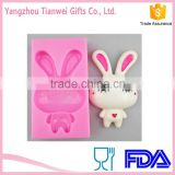 Wholesale Cartoon character Rabbit silicone molds for cakes,soaps,gypsum Factory Direct Supply